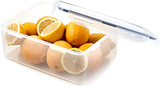 Lock & Lock Classic Stackable Airtight Rectangle Food Container, 2.6L