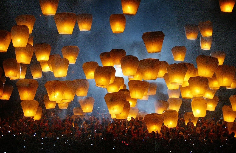 Buy Sugarman International Ltd. Best Sky Lanterns - Colorful ... for Flying Lantern Lights  588gtk
