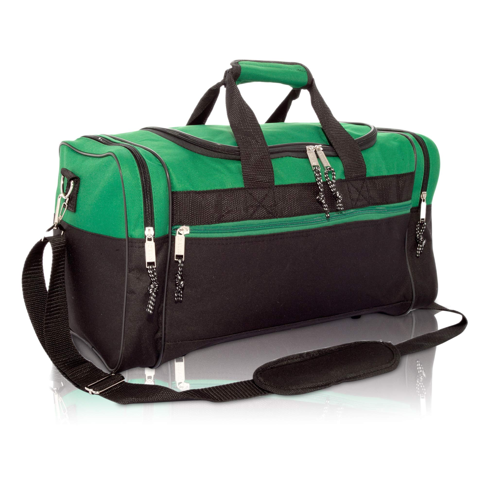 17'' Blank Duffle Bag Duffel Bag Travel Size Sports Durable Gym Bag (Green) by DALIX