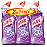 Harpic Toilet Cleaner Liquid Active Fresh Lavender, 750ml, 3-Piece