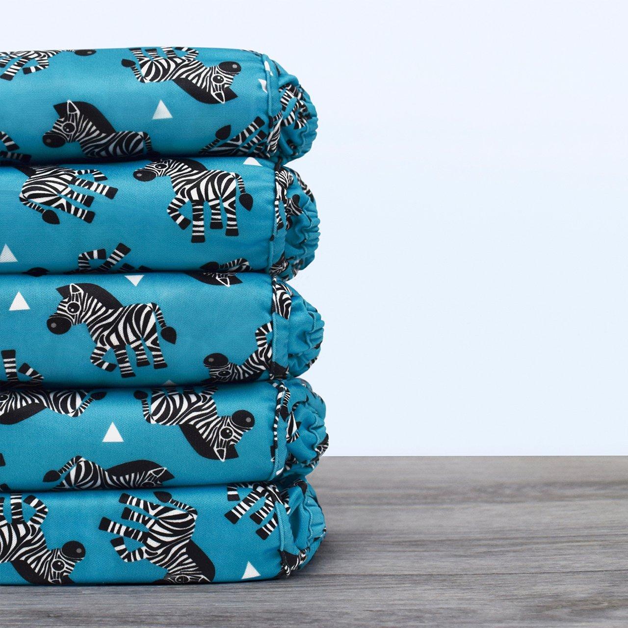 Bambino Mio Miosoft Reusable Nappy Cover , Zebra Crossing 9kg+ Size 2
