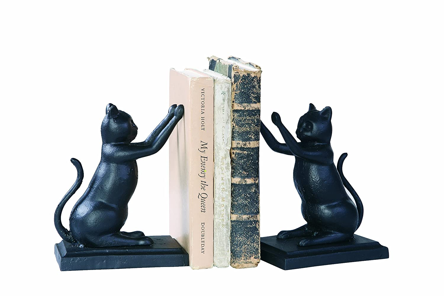 Creative Co-Op Black Cast Iron Cat Bookends DE3025