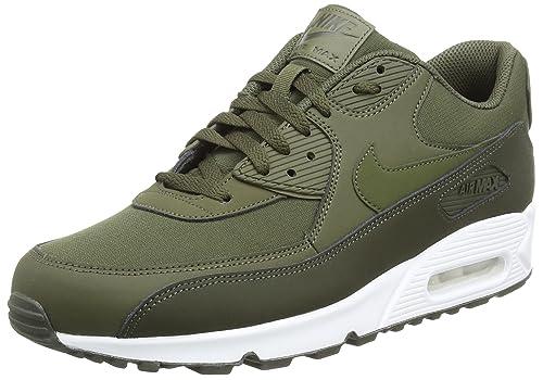 pretty nice 70cc9 e505a Nike Mens Air Max 90 Essential Sequoia Cargo Khaki Leather ...