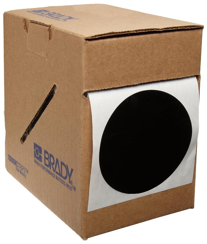 Pack of 350 Per Roll Yellow 3.5 Diameter Brady ToughStripe Nonabrasive Dot Shaped Floor Marking Tape