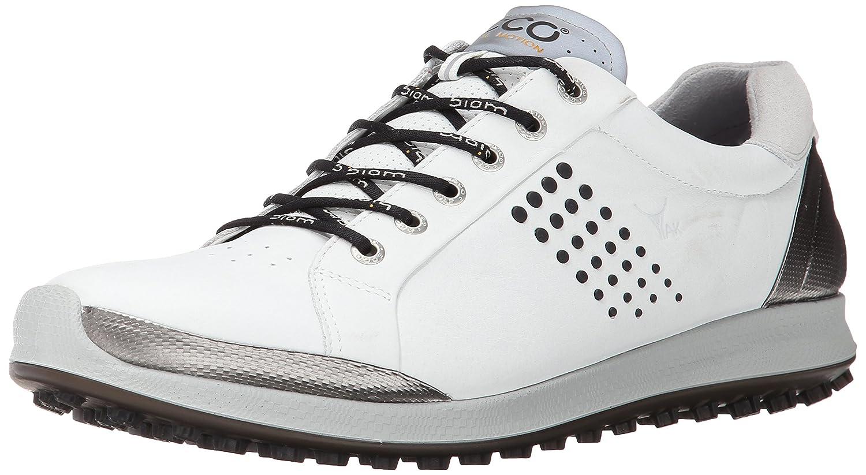 [エコー] ゴルフシューズ GOLF BIOM HYBRID 2 メンズ 24.5 cm WHITE/BLACK B00NBP207C