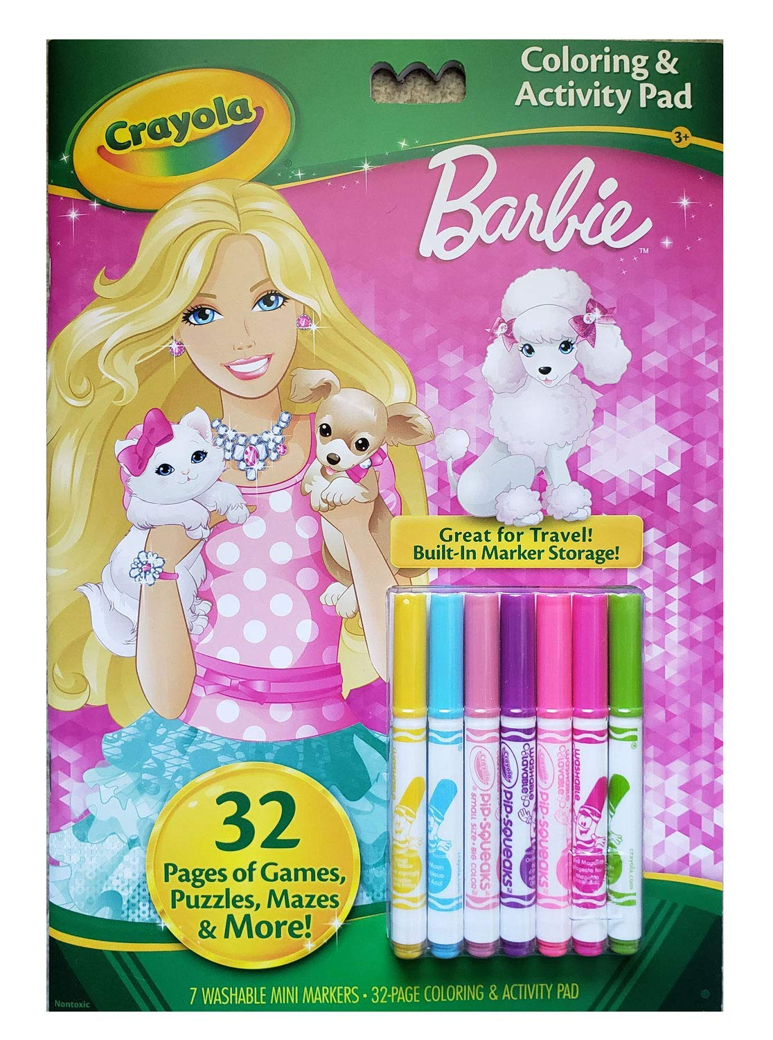 Crayola Barbie Coloring and Activity Book with Markers Binney & Smith 04-5815