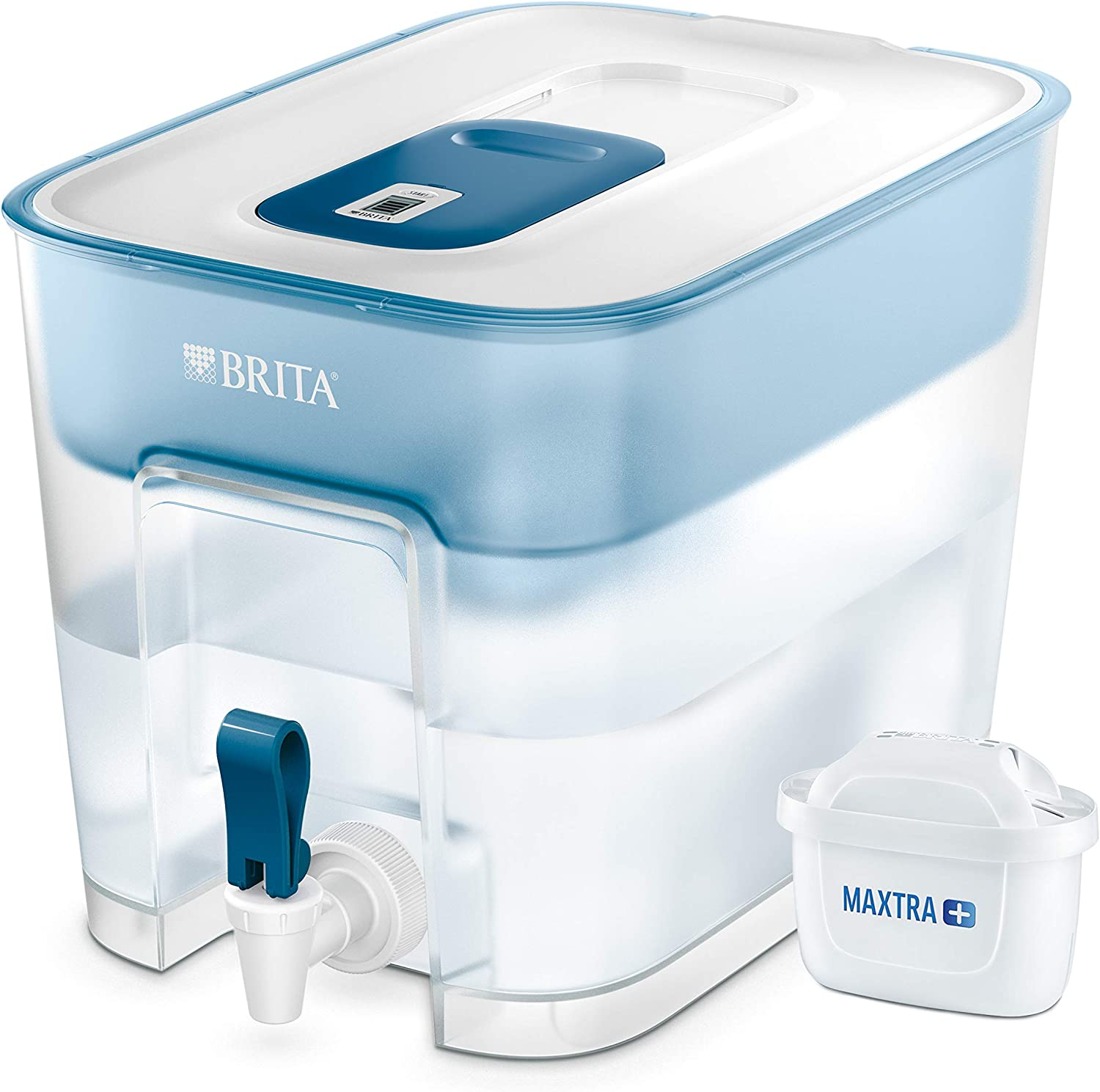 BRITA Flow Water XL Filter Tank, Compatible with BRITA MAXTRA+ Cartridges, Water Filter That Helps with The Reduction of Limescale and Chlorine, White