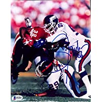 $84 » Signed Lawrence Taylor Photograph - 8x10 BAS - Beckett Authentication - Autographed NFL Photos