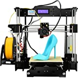 ALUNAR 3Dプリンター Reprap Prusa i3 DIYキット未組立 最大印刷サイズ220 * 220 * 240mm ノズル最高260℃ M605ブラック 組立て動画SDカード同梱