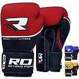 RDX Boxhandschuhe Muay Thai Boxsack Sparring Kickboxen Training Sandsack Rindsleder Boxing Gloves
