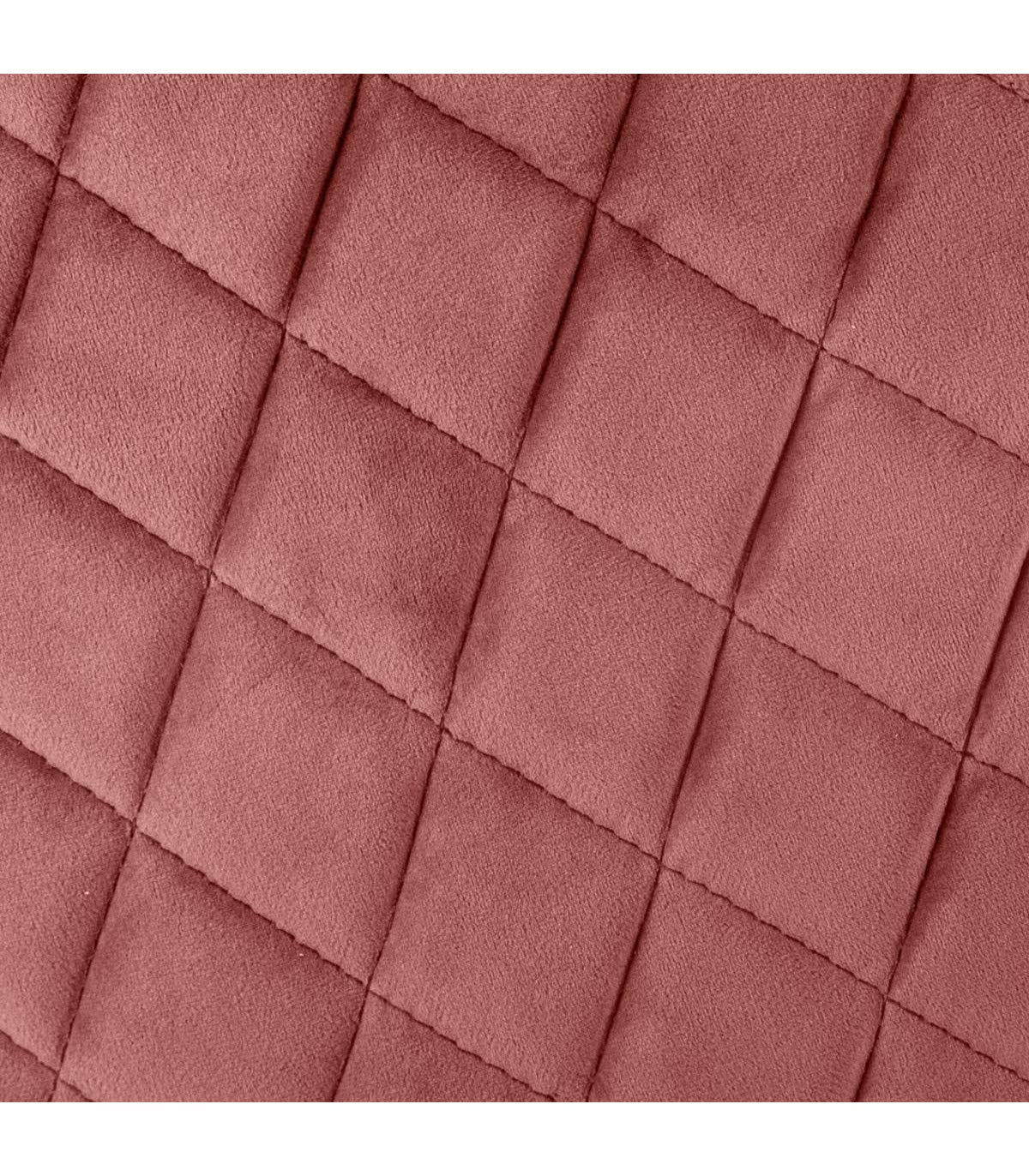 Chaise Fauteuil en Velours Rose Blush Marlo Atmosphera