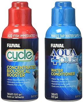 Lote de potenciador biológico Fluval Cycle (250ml) y acondicionador de