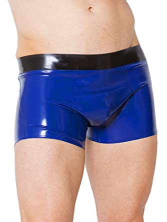Blue latex shorts speaking, would