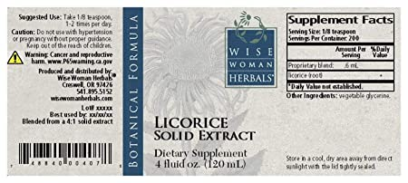 Wise Woman Herbals Licorice Solid Extract 4 oz – for Immune Support – Promotes Normal Healthy Liver and Adrenal Gland Function Supports Digestive Health, Upset Stomach and Indigestion