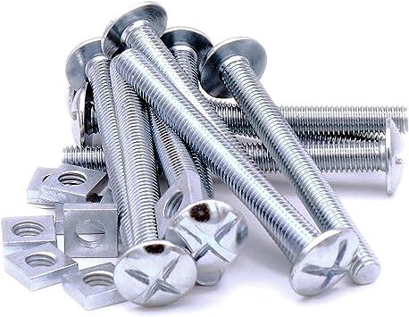 M8 x 80 mm (8 mm) cabeza tornillos y tuercas – acero (Pack de 10 ...