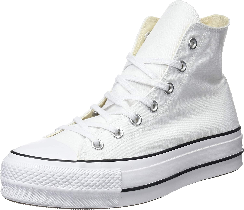 Converse CTAS Lift Hi Black/White, Zapatillas Altas Unisex Adulto