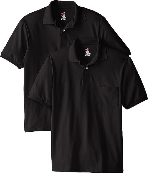 mens black polo shirt with pocket