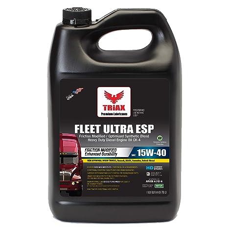 Triax API CK-4 Licensed Fleet Ultra ESP 15W-40 Synthetic Blend - Moly