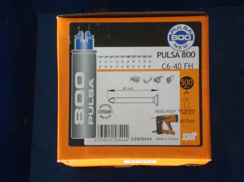 clou spit pulsa p800 + gaz - c6 40 mm - boite de 500 057543