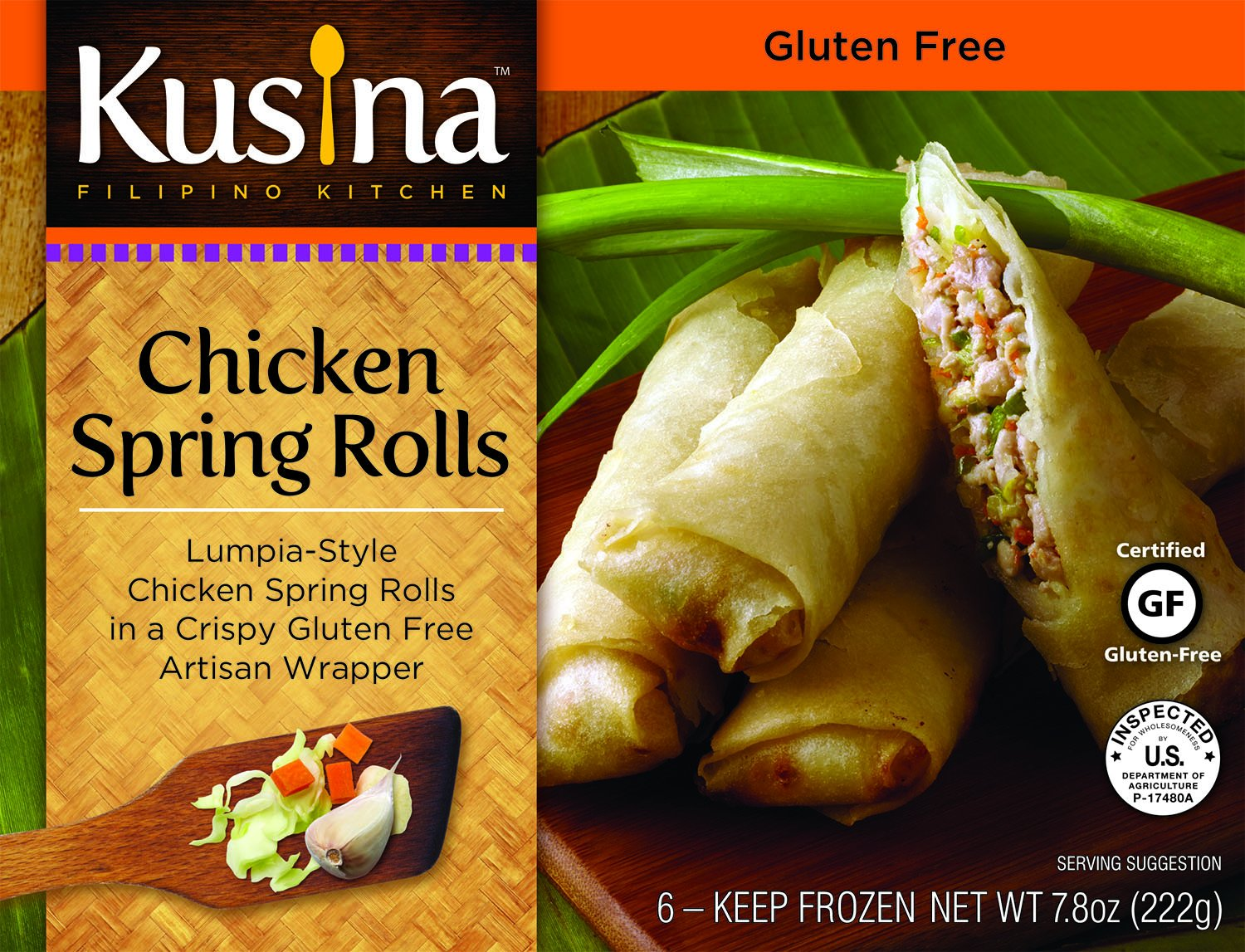 Kusina Filipino Kitchen (Chicken Spring Rolls, 6 Pack