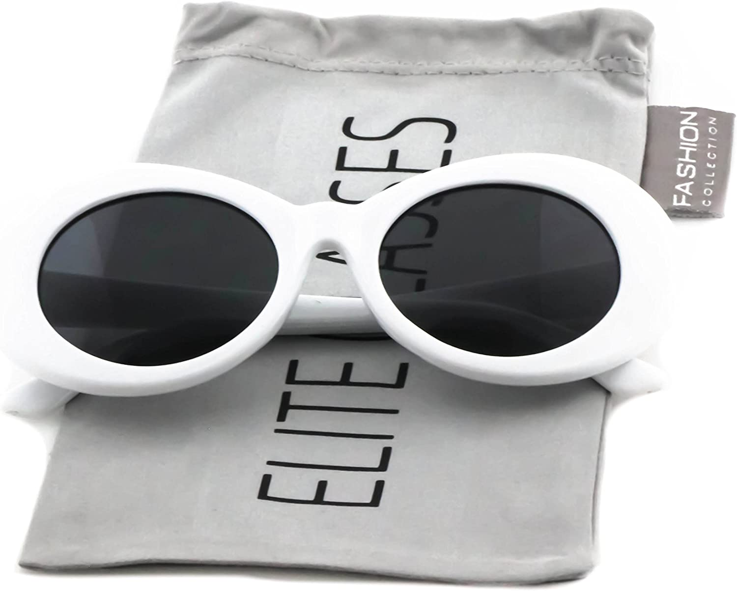 Clout Goggles Oval Mod Retro Thick Frame Rapper Hypebeast Eyewear Supreme Glasses Cool Sunglasses