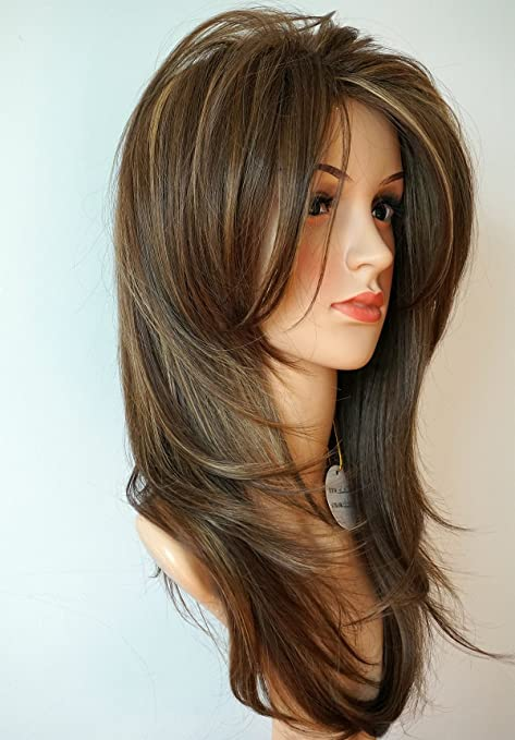 Wigbuy Long Layered Light Brown Hair And Blonde Balayage Color With