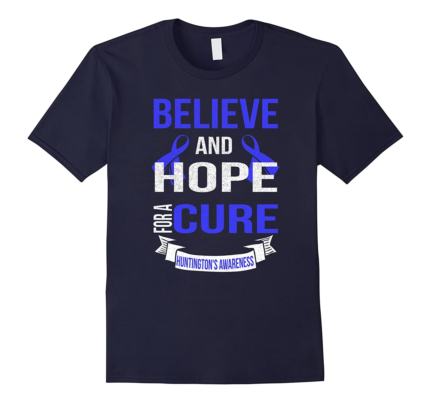 Believe and hope for a cure huntington's disease awareness-TH