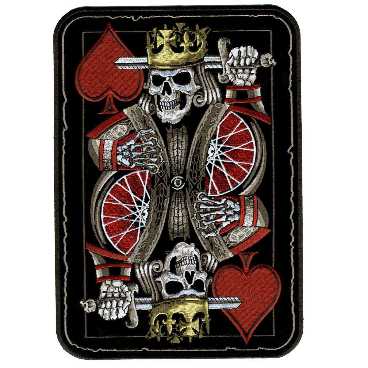 Hot Leathers, SUICIDE KING, Iron-On / Saw-On Rayon PATCH - 7