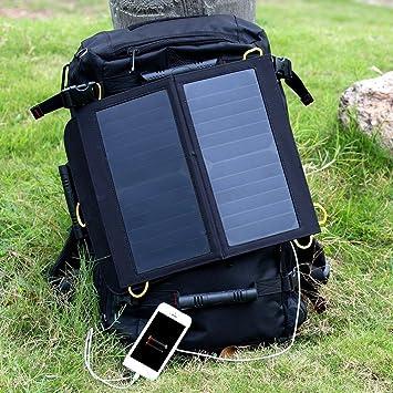 Cargador Solar Móvil 13W con Mayor Eficiencia Ultra-slim del Sol-Wing Levin Batería Panel Solar Portátil con USB 5V Compatible con todo smartphone