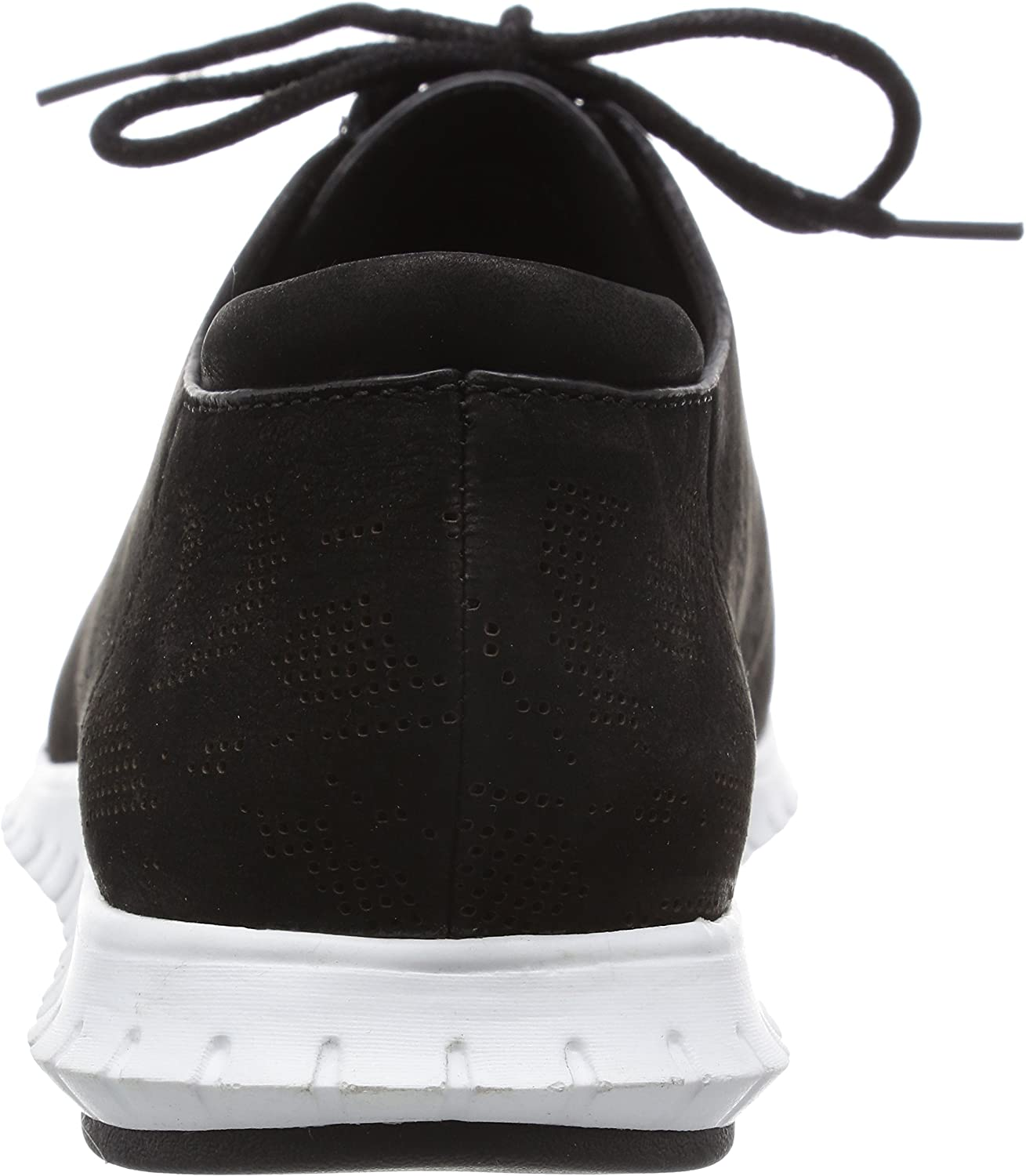 Cole Haan Women's Zerogrand Perforated Trainer Fashion Sneaker Black Perforated Nubuck/Optic White