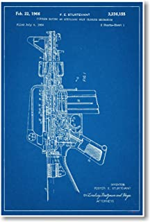 Amazon revolver 1875 official patent blueprint poster 12x18 ar 15 assault rifle patent new famous invention blueprint poster malvernweather Choice Image