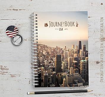 Abschiedsgeschenk Auslandsjahr Freund reisetagebuch usa amerika zum selberschreiben oder als