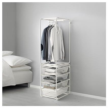 IKEA Algot - Marco con cestas de varilla/malla BLANCO ...