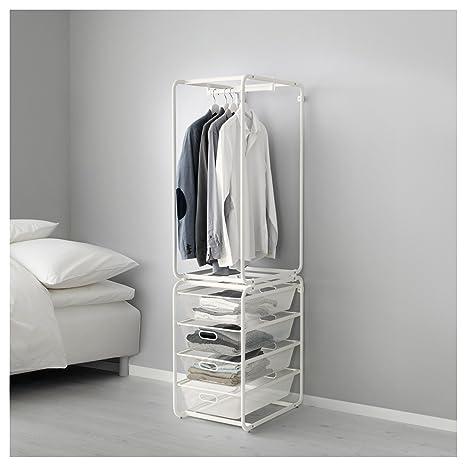 IKEA Algot - Marco con cestas de varilla / malla blanca ...