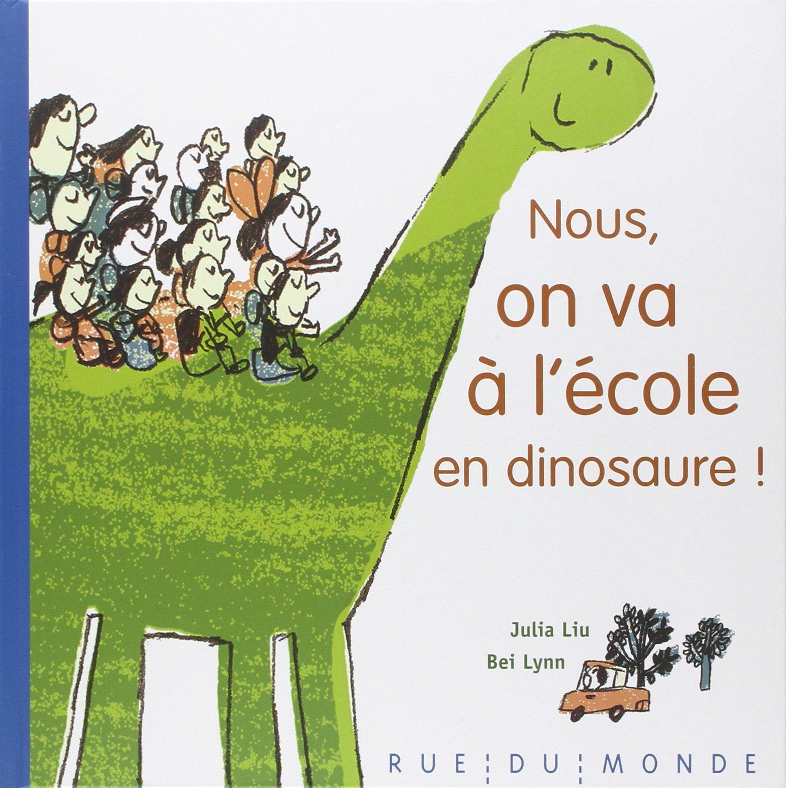 """Résultat de recherche d'images pour """"Nous, on va à l'école à dos de dinosaure"""""""