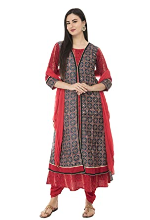 45bd0fa588 Amazon.com: SABHYATA Womens Kurta Indian Kurtis for Women Casual Tunic  Kurti Tops Long Dress: Clothing