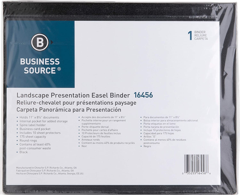Black Business Source 1-Inch Presentation Binder