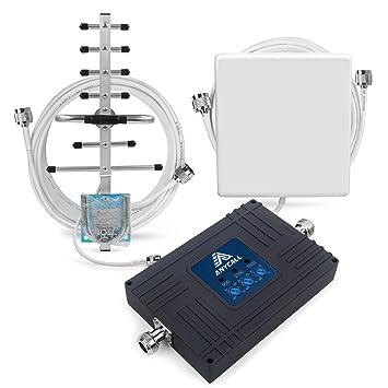 ANYCALL Teléfono Celular Repetidor de Señal Tri-Banda 900/1800/2100MHz Amplificador Cobertura Móvil gsm 3G 4G con Panel y Yagi Antena Kit: Amazon.es: ...