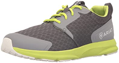 Ariat Men's Fuse Athletic Shoe, Charcoal Mesh/Neon Green, ...