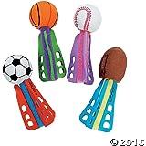 Fun Express Foam Mini Sport Ball Missiles Toy - 24 Pieces