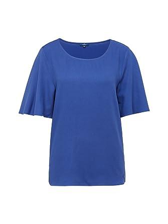 TOM TAILOR für Frauen T-Shirts Tops T-Shirt im Materialmix  Amazon.de   Bekleidung 4cb3471d92