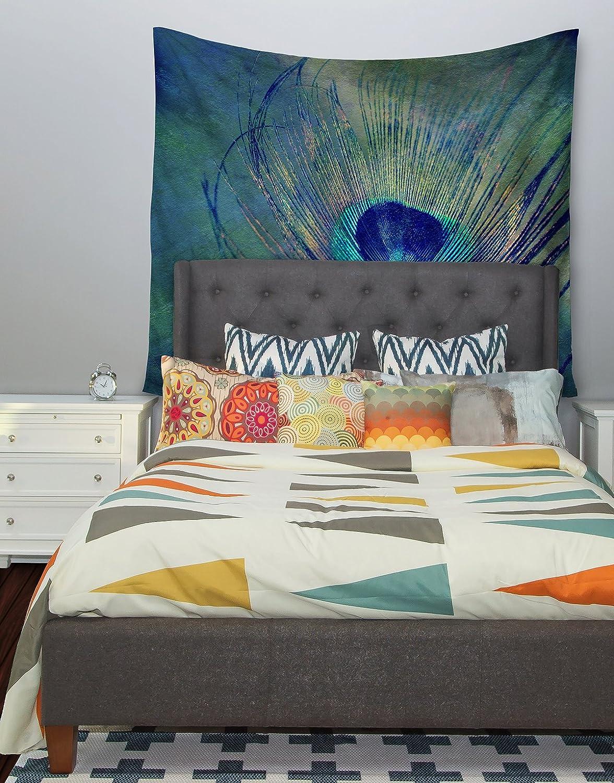 Kess InHouse Robin Dickinson Plume Wall Tapestry 68 X 80