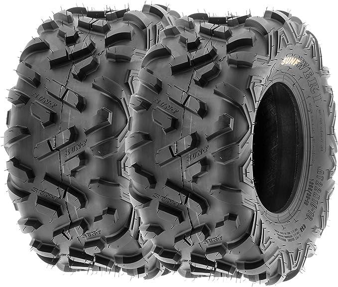 Set of 2 A027 XC Knobby Sport Tires 6 PR Tubeless SunF 20x10-9 20x10x9 ATV UTV Tyres