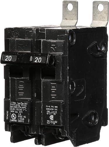 Siemens B220H 20-Amp Double Pole 120 240-Volt 22KAIC Bolt in Breaker, COLOR