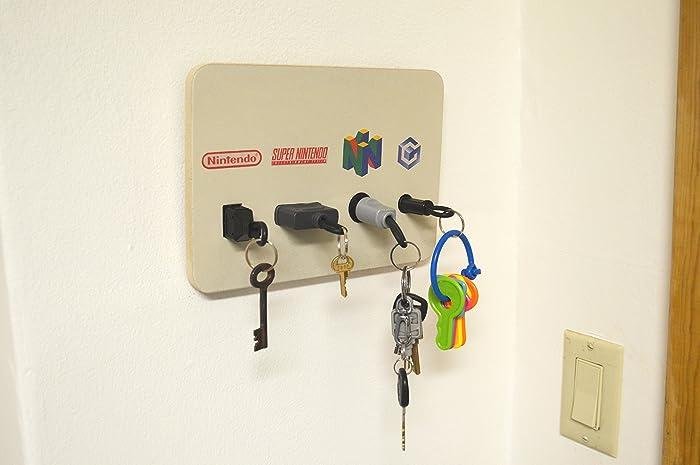 Amazoncom Nintendo Plug Key Chain Holder Organizer NES SNES N64