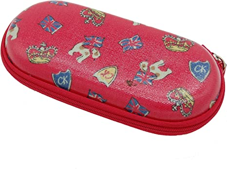 Cath KIdston Lucky Rose Moulded Glasses case in Charcoal Oilcloth