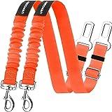 URPOWER Upgraded Dog Seat Belt 2 Pack Dog Car Seatbelts Adjustable Pet Seat Belt for Vehicle Nylon Pet Safety Seat Belts Heav