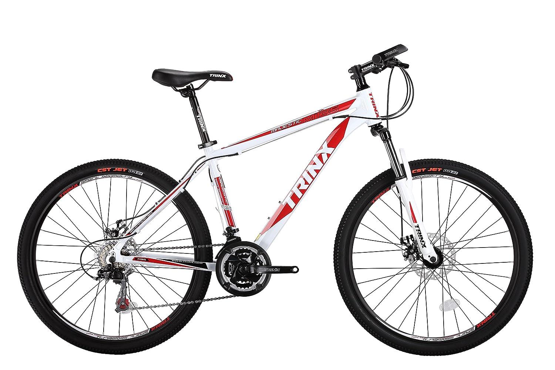 TRINX M136 マウンテンバイク 26インチ 17インチ 21スピード  White - Red B01M9D6R7P