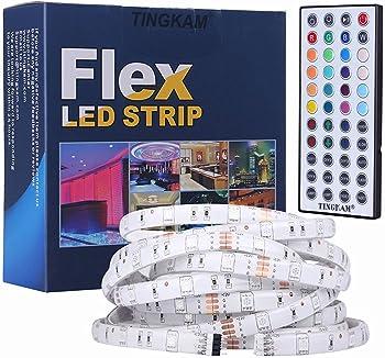 Tingkam 5M 5050 SMD RGB Led Strips Lighting Kit