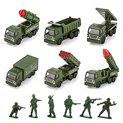 Amazon Com Toy Cars Pull Back Military Cars Playsets Toddler Toys